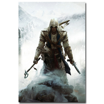 Плакат гобелен шелковый Кредо убийцы Assassins Creed в ассортименте