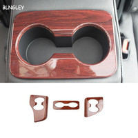 Free shipping 3pcs/lot ABS wooden grain rear glass cup decoration cover for 2015 2017 Toyota Highlander car accessories