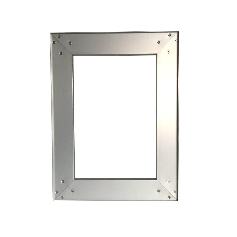 Frameless Aluminum Door Frames For Kitchen Cabinet Door, Assembled Door Available