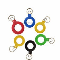 100pcs 0# RFID IC keyfobs I3.56 MHz keychains NFC key tags ISO14443A MF Classic 1k token tag for smart access control system