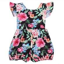 2017 pudcooco Newborn Infant Baby Girl Cute Floral Lotus Lace Romper Jumpsuit Outfits Summer Sunsuit Clothes