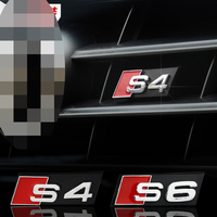 Auto Decal Modified Accessories 3D S3 S4 S5 S6 S8 Logo Car Styling Front Hood Grille