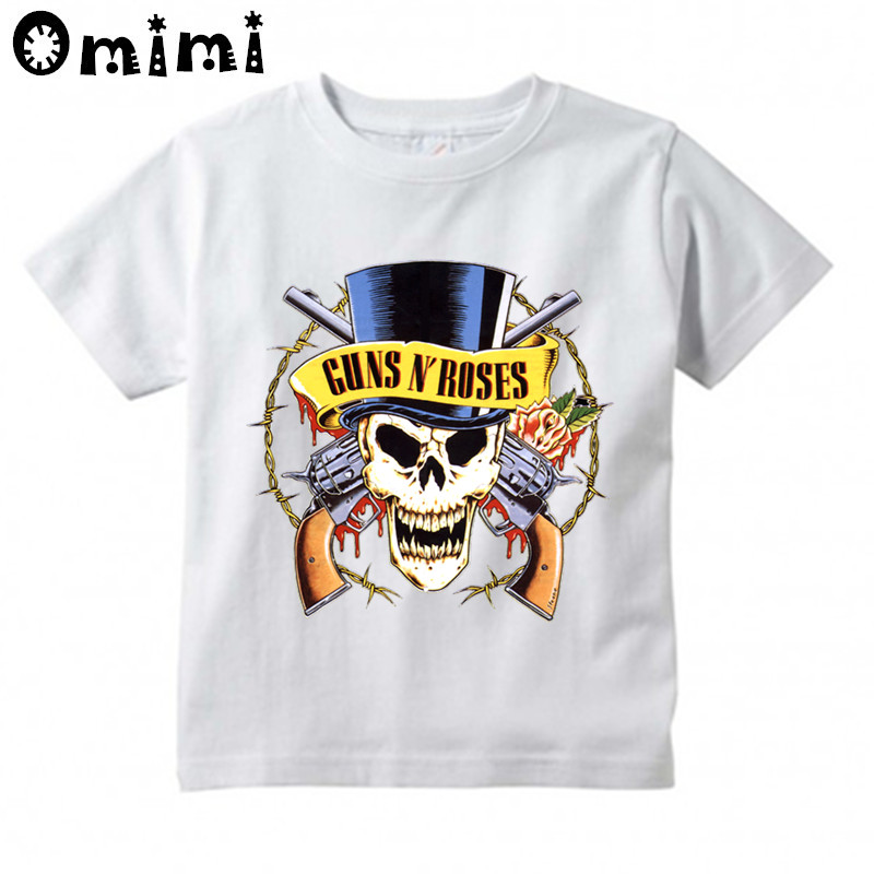 Kids Slash Rock Band Gun N Rose Design T Shirt Boys/Girls Great Casual Kawaii Short Sleeve Tops Children's Funny T-Shirt,ooo6024