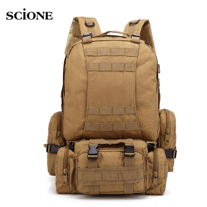 50L открытый рюкзак Молл военный тактический рюкзак Спортивная Сумка Отдых Туризм для путешествий армии Mochlia сумки XA591WA