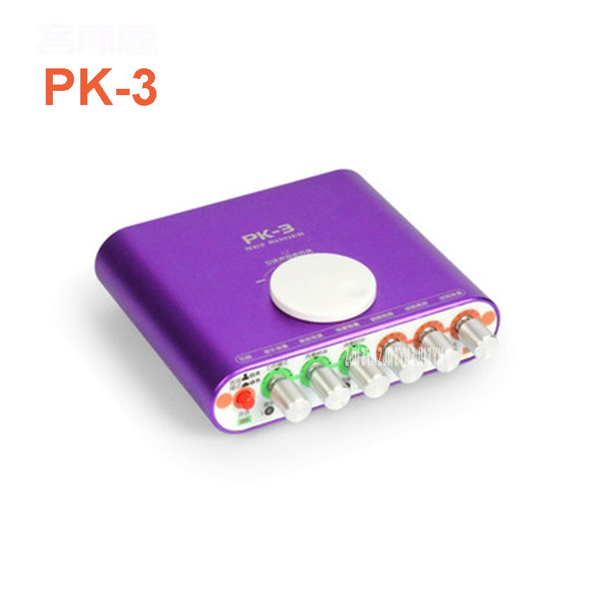 1PCS PK-3 External USB Sound Card 2.1 Channel Audio Adapter with Headset MIC for PC Desktop Notebook Output power 800mW Purple ревербератор xox pk 3 usb pk 3 usb