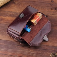 Genuine Cow Leather Belt Clip Phone Case Dual Pouch For Lenovo A7000 Turbo,ZUK Z2 Pro,Vibe P1 Turbo,K5 Note,K4 Note,Vibe X3