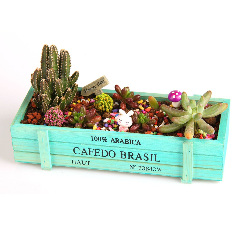 New garden plant box vintage natural wooden garden planter for New garden plants