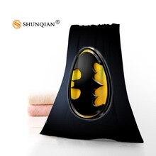 Высококачественное полотенце для лица Бэтмен/банное полотенце на заказ из микрофибры тканевые полотенца Размер 35x75 см, 70x140 см