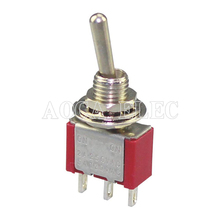 100PCS MTS-102 SPDT Toggle Switch 6MM 3A 250VAC 6A 125VAC 3Pin ON-ON Mini Latching For Guitar Pedal 50 pcs off on mts 102 3 pin 2 position mini latching toggle switch spdt ac 125v 6a 250v 3a