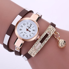 Leather Pendant Bracelet wrist watch for Fashionable Ladies