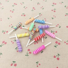 10 Pieces Mixed Color Clay Craft Decoration Miniature Fairy Garden Terrarium Figurines DIY Mini Fake Food For Doll House 8*50mm