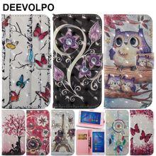 DEEVOLPO Case For Huawei P10 Mini P9Mini P8 2017 Honor 6C Cover Leather Luxury Wallet Card Slot Back Capa Fundas D03E