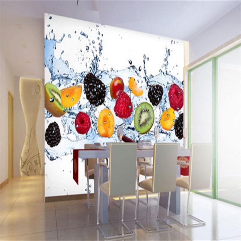 цены custom modern any size 3d non-woven wallpaper wall murals 3d wallpaper dynamic fruit restaurant background wallpaper