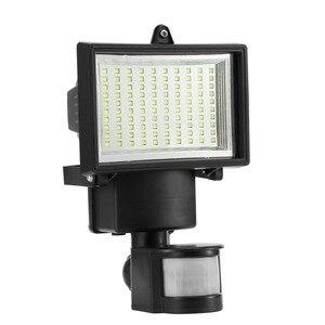 Image 4 - 100 led smd 태양 램프 야외 투광 조명 정원 램프 장식 밤 보안 태양 에너지 센서 벽 조명