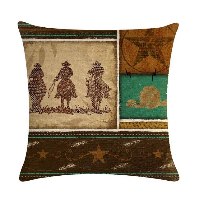Cowboy a Cavallo Animali Motivo Decorativo Coperte e Plaid Cuscini Fodere per Cuscini Per Il Divano di Casa Decorazione Auto Cojines Almofadas ZY266