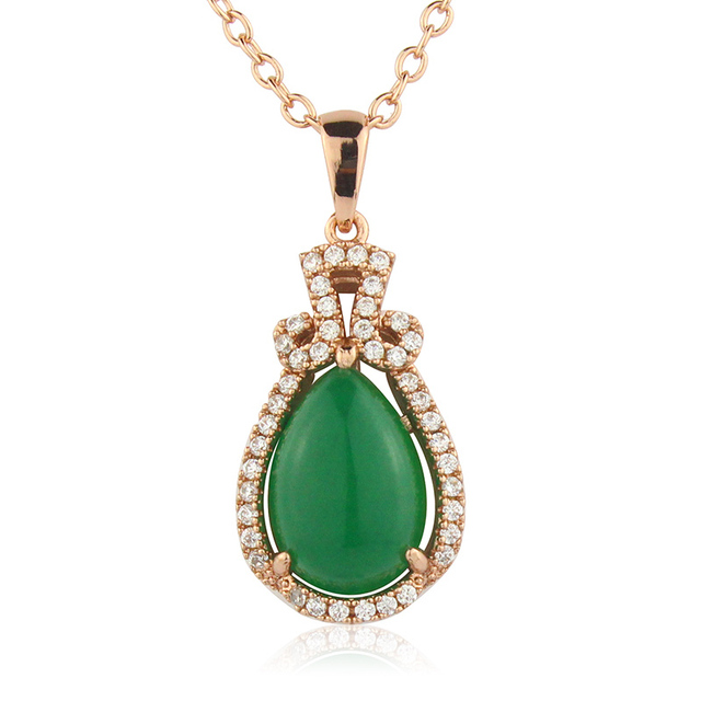 Smart nice pendant necklace accessories green stone setting high smart nice pendant necklace accessories green stone setting high class women jewelry db3311ad mozeypictures
