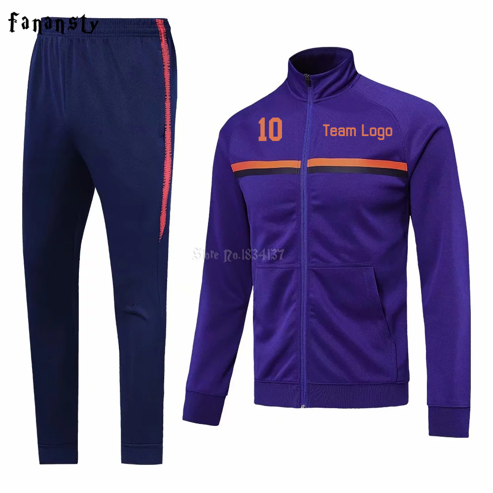 High quality tracksuit football set men soccer training jacket suits adult customize uniforms kits winter sportswear