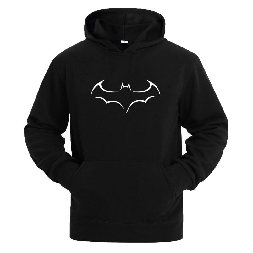 Hot Sale Batman Sweatshirt Men Hooded 2017 Autumn Winter New Fashion Casual Hoodies Men Fleece Print Men Hoodies Plus Size XXXL