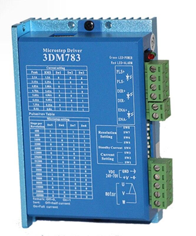 3DM783 3 phase NEMA23 NEMA34 stepper motor driver 32bit DSP DC24-70V 1.8-8.3A JMC цена