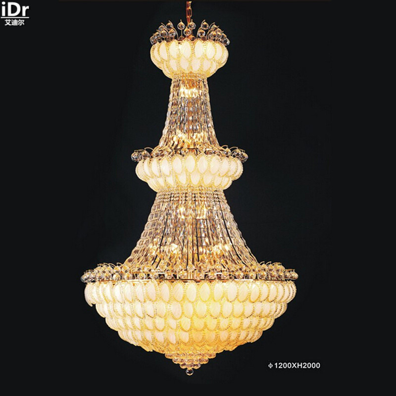 Crystal works lamps indoor lighting K9 crystal lamp crystal luxury penthouse floor headlamps gold Chandeliers Lmy-0160