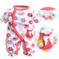 Ropa del verano del bebé recién nacido bebé 100% algodón de una pieza de ropa del mameluco bb triángulo romper ropa que sube