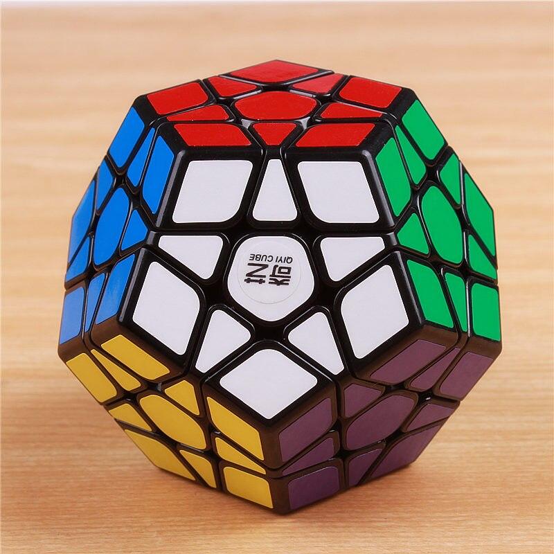 QIYI megaminxeds cubos de la magia stickerless velocidad profesional 12 lados rompecabezas cubo mágico juguetes educativos para los niños