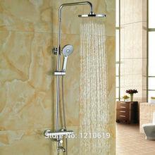 Недавно Ванная Комната Термостатический Душ Набор Кран вт/Ручной Душ Ванна Носик Chrome 8 «Душ Ванна Смеситель Кран