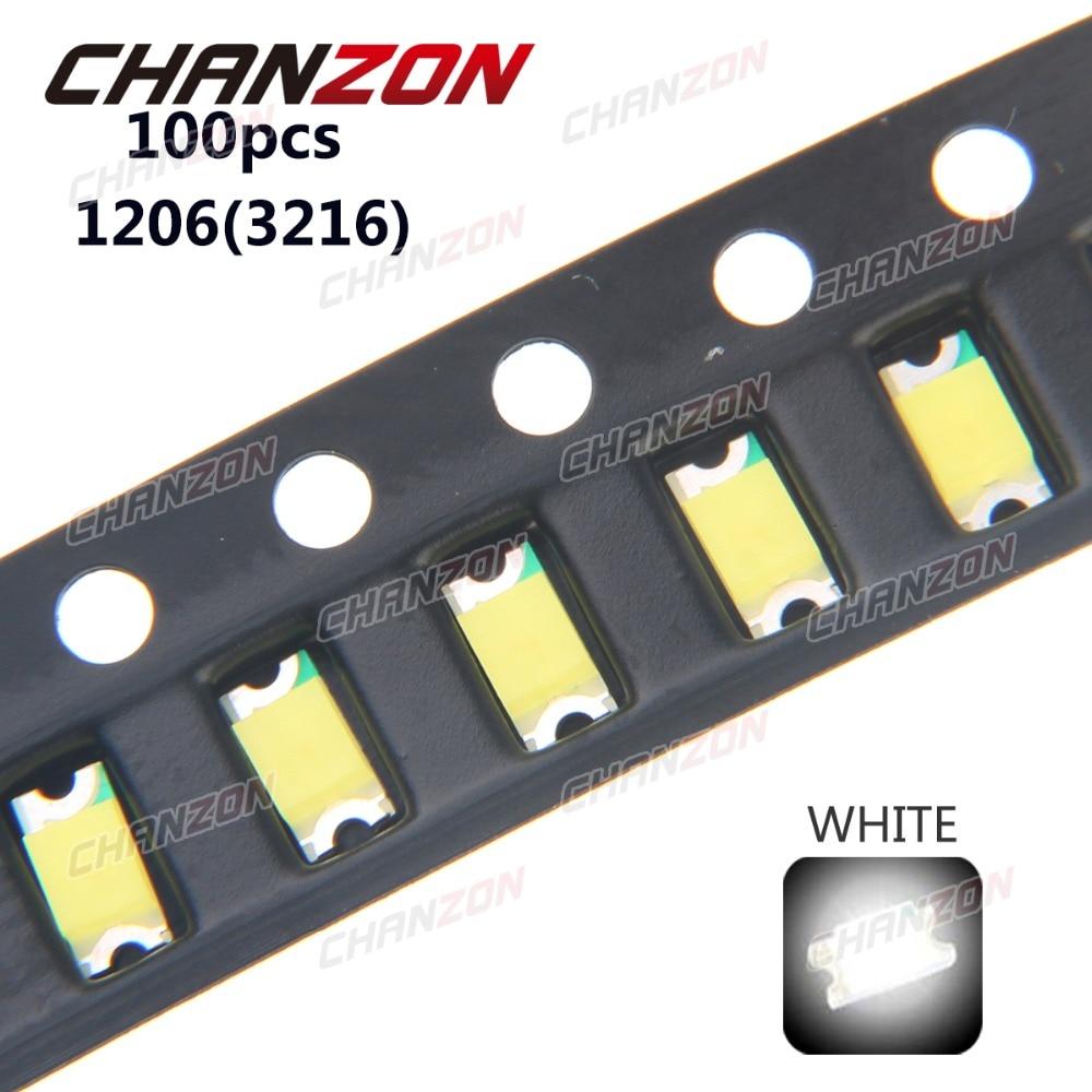 20pcs 1206 Green Led Smd Chip Bulb Lamp Surface Mount Smt Bead Ultra Bright Light Emitting Diode Diy Highlight 3216