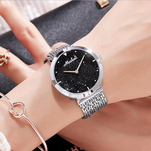 2017 Brand Gold Luxury Women Watches Tassel Steel Diamond Women Dress Wristwatch
