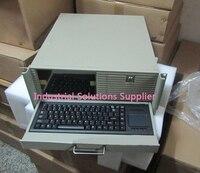 Новый 4U промышленные корпуса компьютера 4U машина 9 lcd календарь клавиатура алюминиевая панель белый