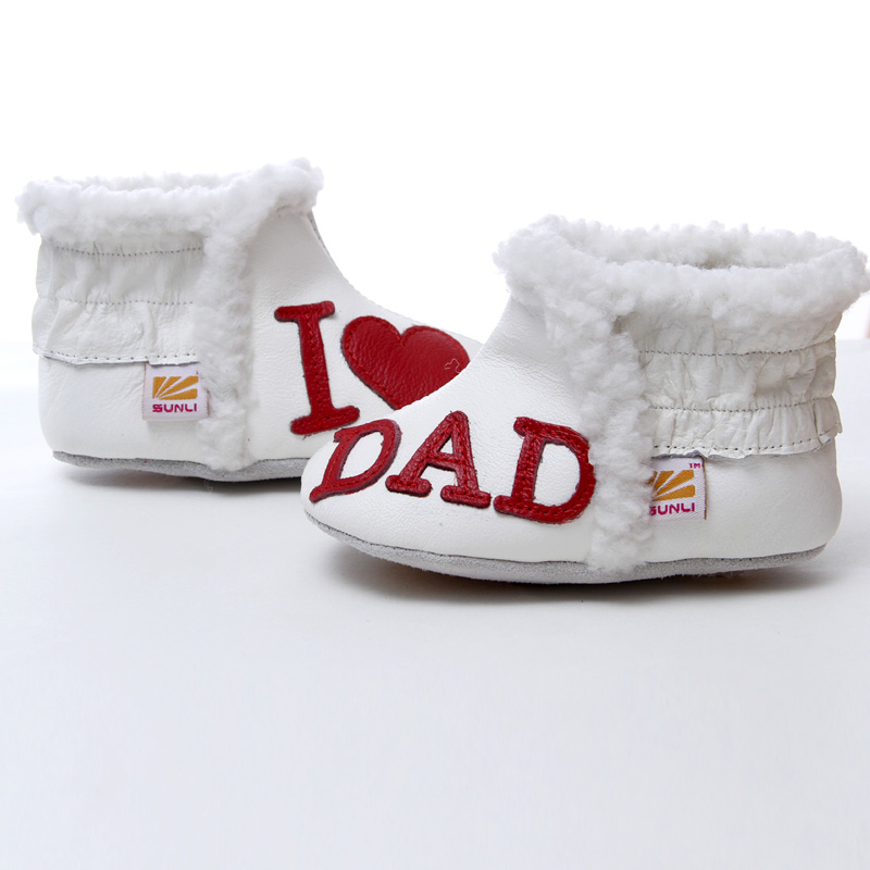 a786d3eda123f US $11.99 40% OFF|Leather Baby Boots Winter Snow Baby Shoes Girls First  Walkers Warm Infant Winter Shoes Boy Baby Girl Boots White Toddler  Booties-in ...