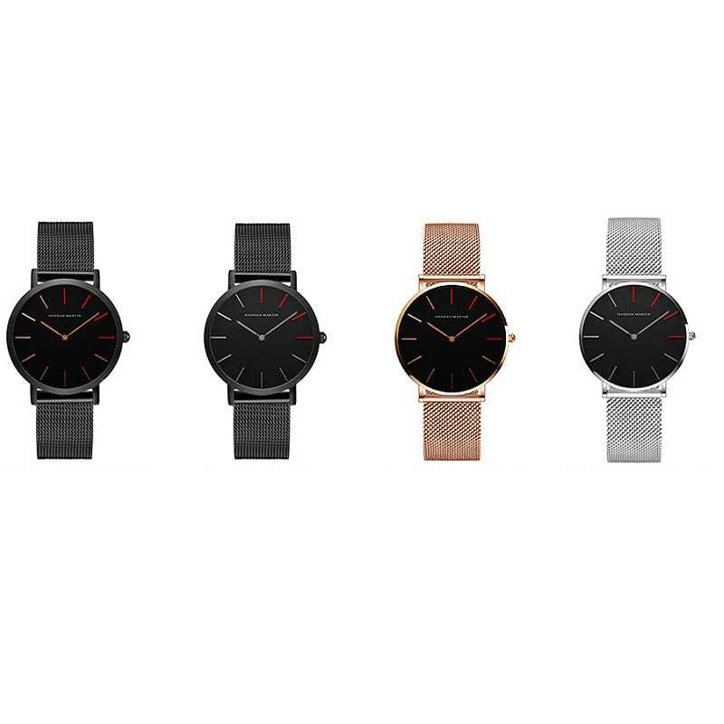 1 шт. Кварцевые водонепроницаемые спортивные повседневные женские новые модные часы наручные часы из нержавеющей стали ремешок для часов диаметром 36 мм
