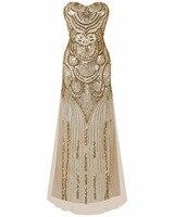 2017 Vrouwen Mode Sexy Sequin avondjurk Party Mouwloze Corset Terug Mermaid jurk Celebrity Prom Lange Jurk vestido