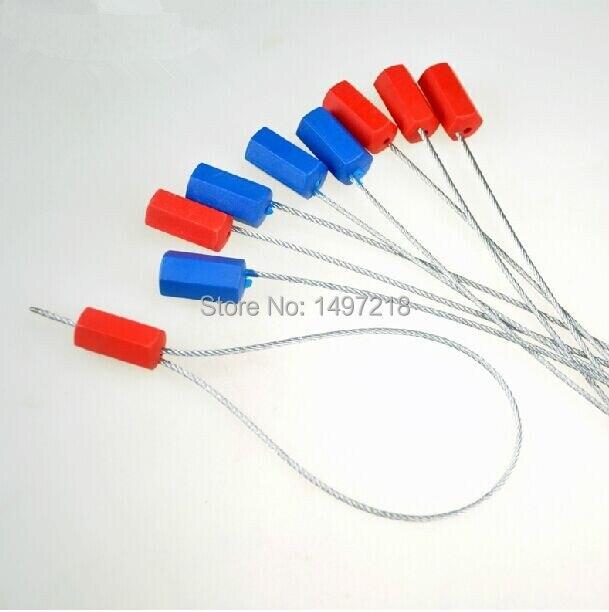 o envio gratuito de 20 pcs lote 600mm comprimento selos de seguranca fechaduras de seguranca cabo