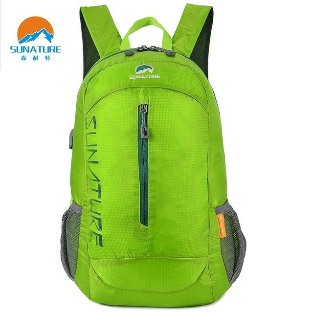 394e77b333 Sunature Outdoor Mountaineering Folding Pack Sports Leisure Pack Water  Proof Wearable Backpacks Men and Women Travel Shoulder
