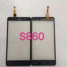 Черный Белый Передняя Стеклянная Линза + Сенсорный Экран Digitizer Для Lenovo S860 Замена для ЖК-Экран Мобильного Телефона Чехол