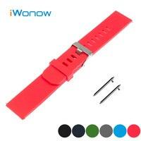 Silicone Rubber Quick Release Watch Band 20mm For Garmin Vivomove Strap Wrist Belt Bracelet Black Blue