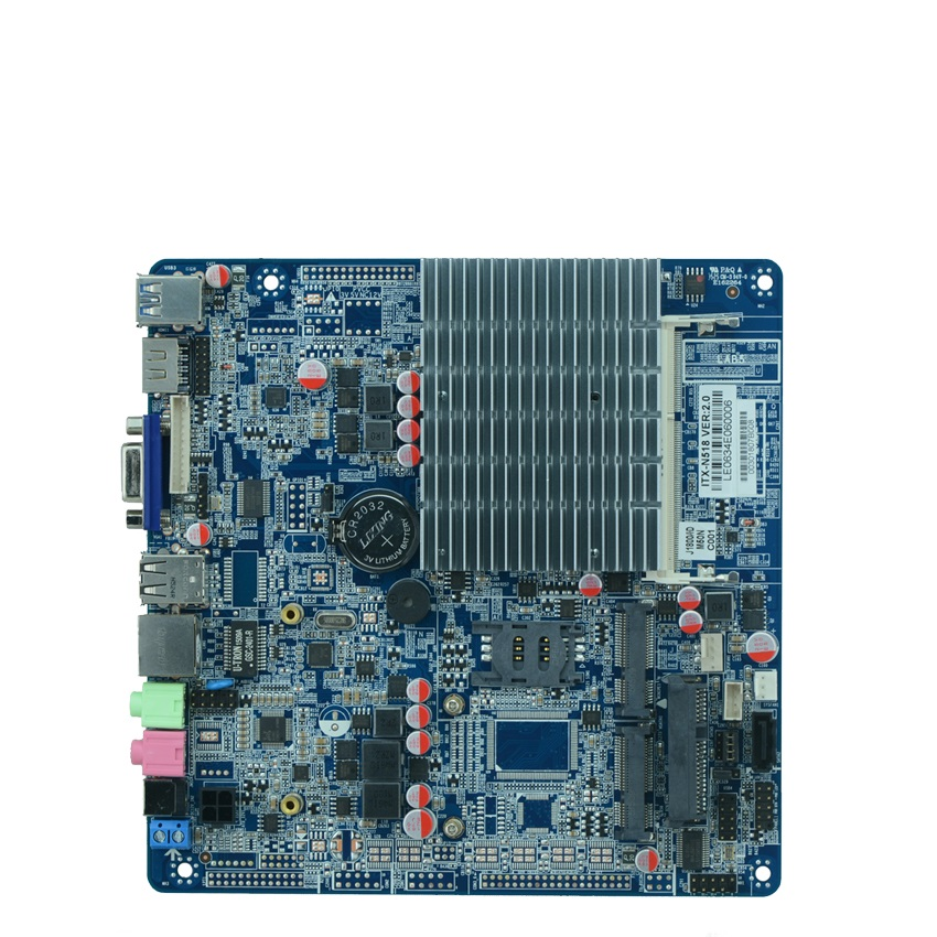 Fanless celeron J1800/2.41G Dual core all in one motherboard Thin industrial embedded motherboard with 9*USB portwell robo 8712evg2a industrial motherboard dual network length of two usb p4 card