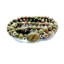 Женские браслеты браслет из бусин натурального камня эластичное