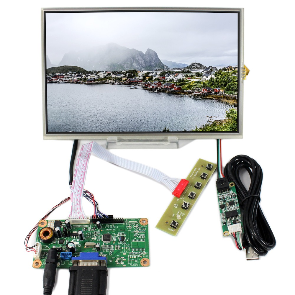 все цены на VGA LCD Controller Board RT2270C-A+10.1inch 1280X800 B101EW05 LP101WX1 LCD With Touch Screen