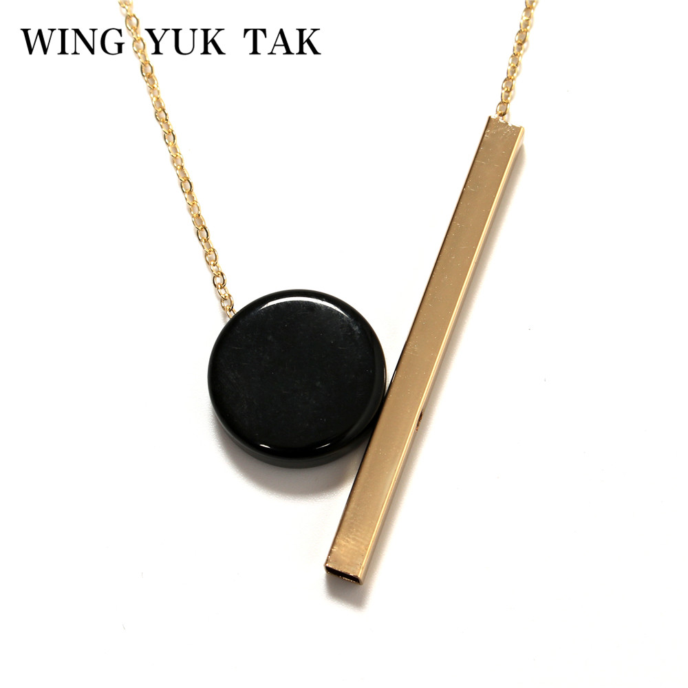 wing yuk tak New Bijoux Fashion Ethnic Necklace For Women Chokers Geometric Statement Wood Necklace Vintage Jewelry Hot Sales