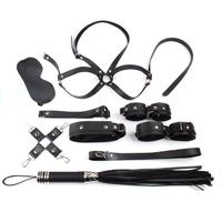 DreamBell 10pcs/Set High Quality Leather Sexy Restraint Game Set Beginner Bondage Kit for Couples