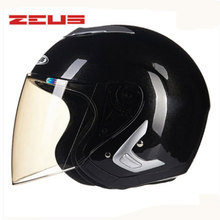 ZEUS New open face 3/4 motorcycle Free shipping Protective Gear motorcross Removable liner Casco Upscale motorbike 607B