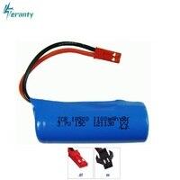 3.7 v 1100 mah 15c lipo bateria para s900 ft008 helicóptero de controle remoto/barco 3.7 v 18500 li-po baterias para a bateria do brinquedo sm plug