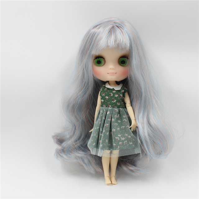 Middie 1/8 blyth nude doll matte face series joint body 20cm DIY toys gift with gestures free shipping