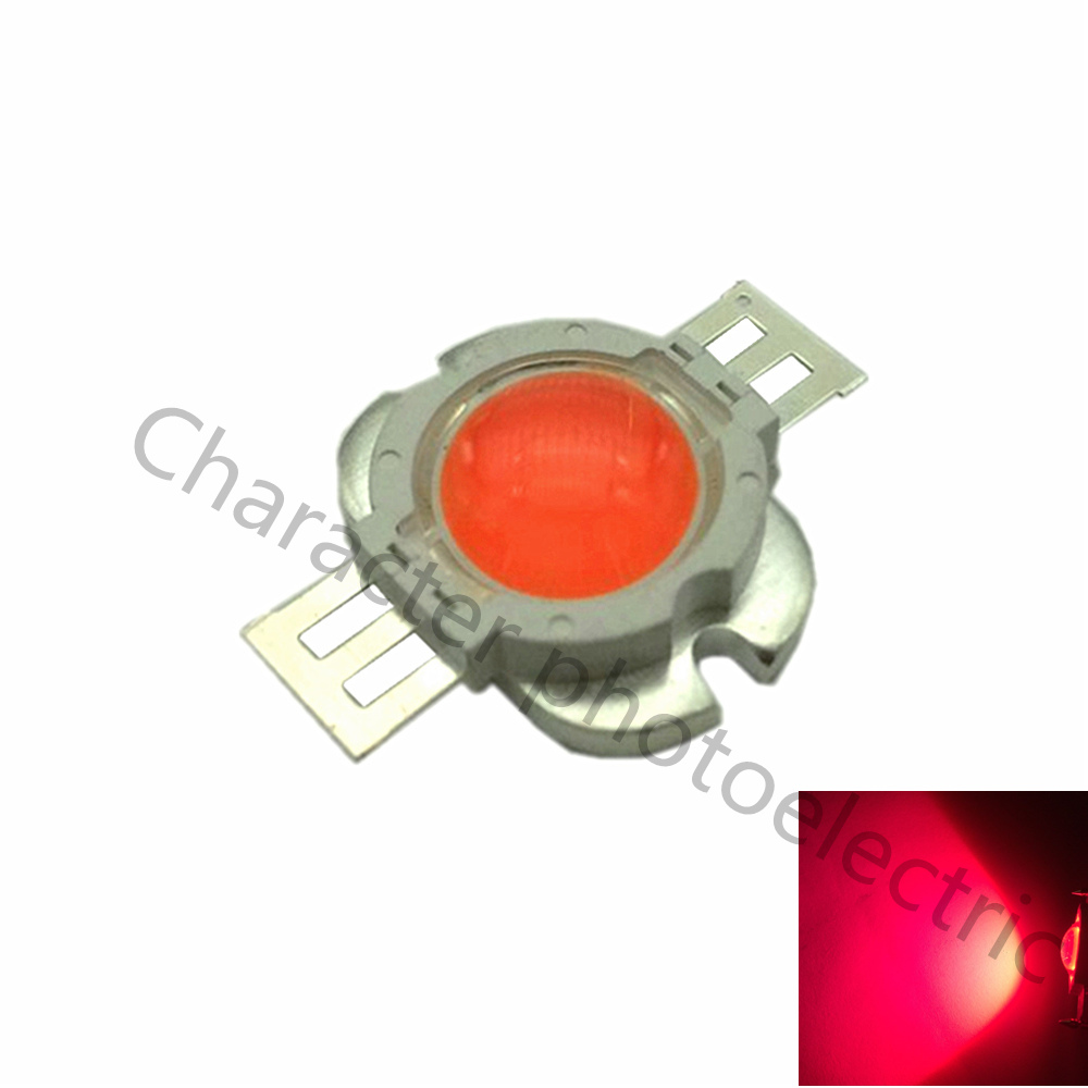 2 PCS High power 10W full spectrum 380 ~ 840nm SMD LED growth chip lamp 10W LED plant growth with 90 degree concentrating lens