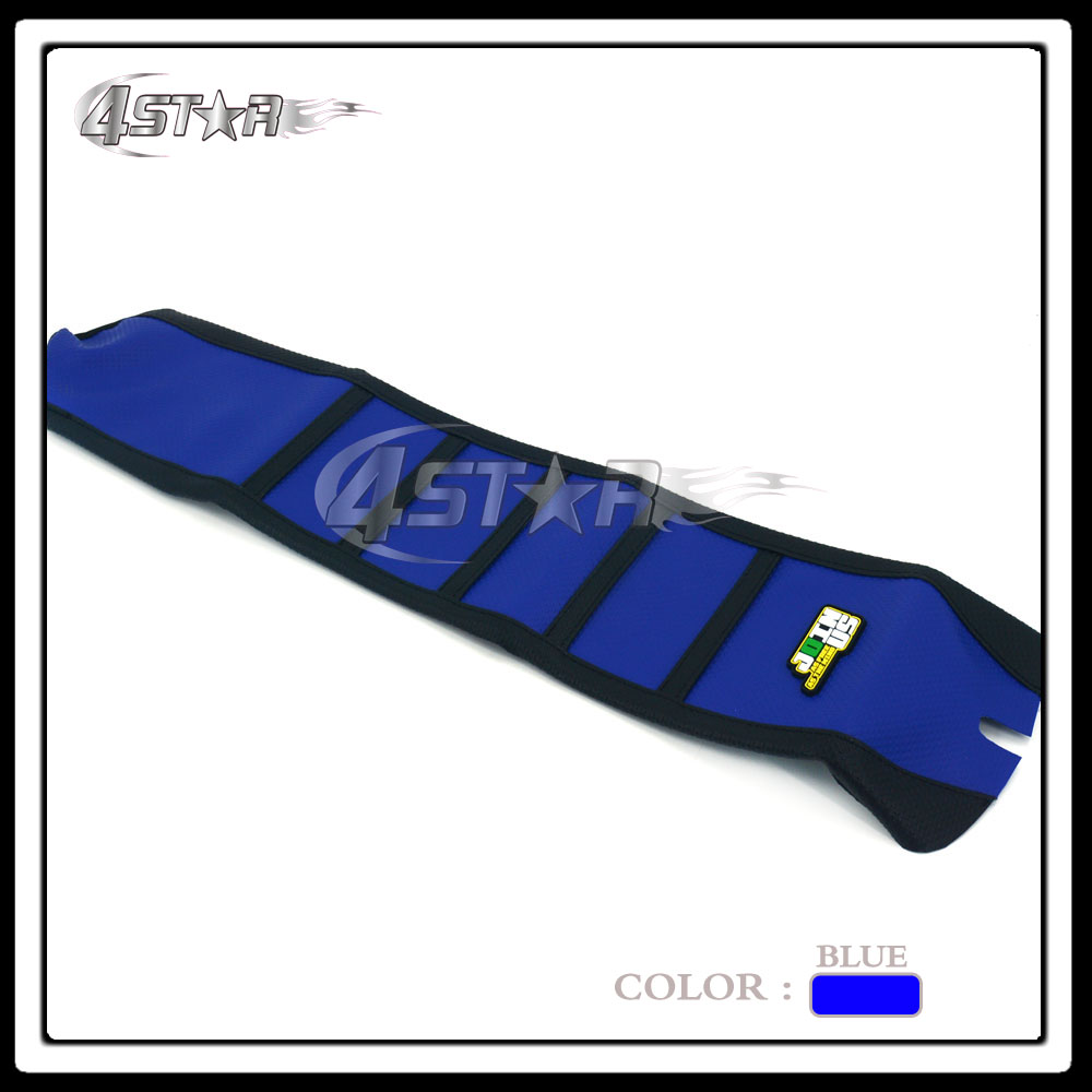 Blue And Black Rubber Motorcycle Striped Gripper Soft-Grip Seat Cover Moto Part For TC FC 2016 2017 16 17
