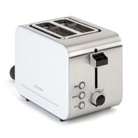 Stainless Steel Multifunction Mini Automatic Four slice Breakfast Baked Cheese Sandwich Toaster Spit Driver White