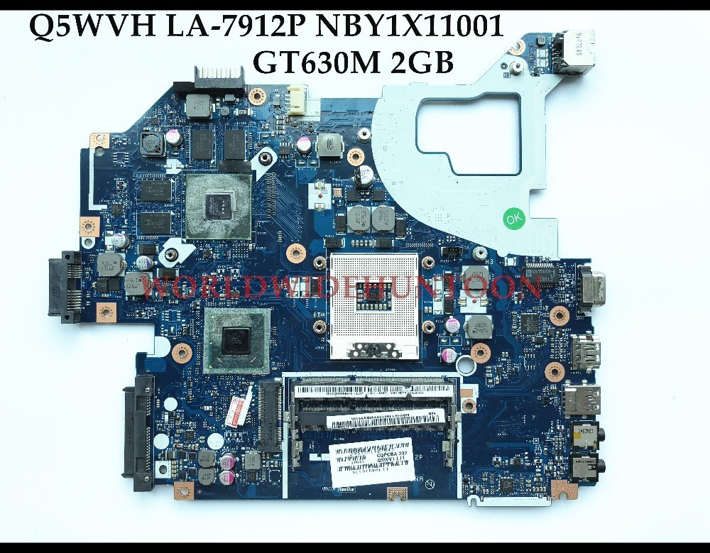 High quality Q5WVH LA-7912P for ACER Aspire V3-571G E1-571G laptop motherboard NBY1X11001 HM77 SLJ8C GT630M 2GB Fully tested