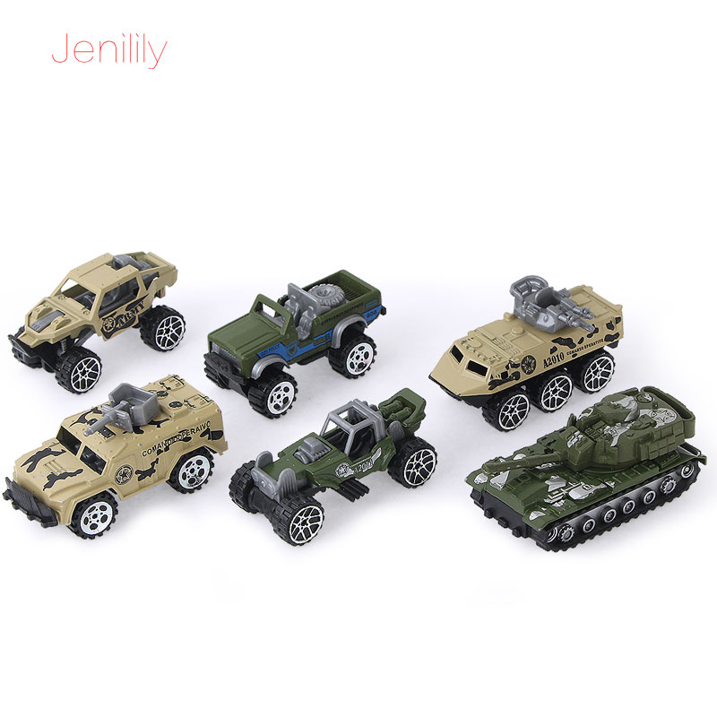 6Pcs/set 1:64 Alloy Army Military Vehicles Car Mod...